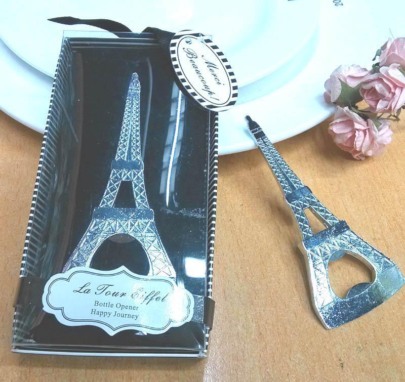 2016 regalos de boda de retorno de la botella de la torre Eiffel de París la despedida de abridor Evento favorece los regalos sorteos mayor 50pcs