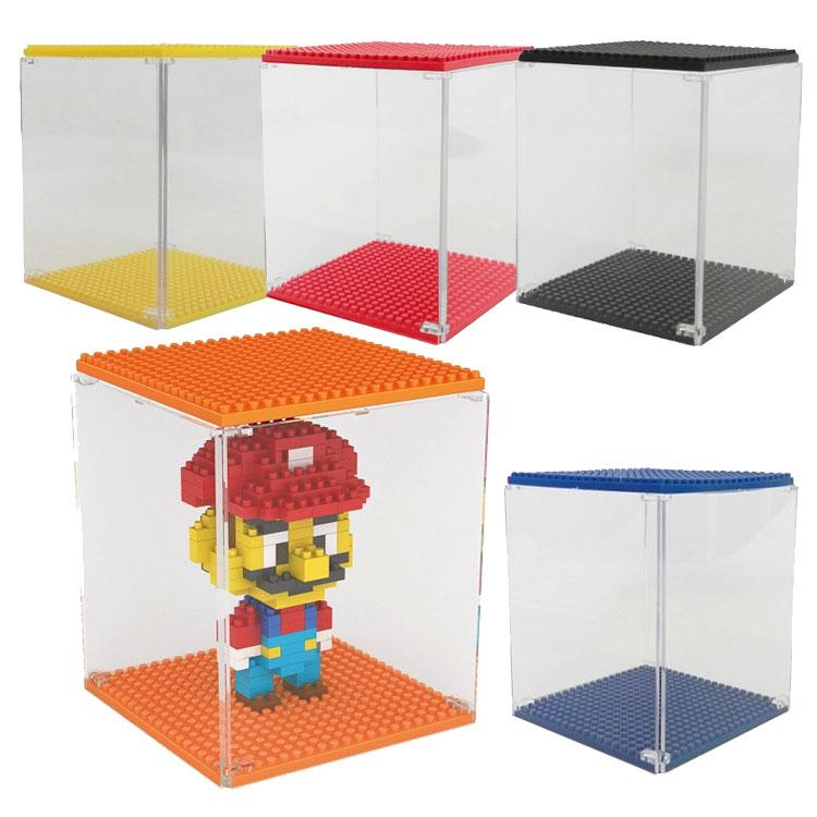 اللبنات Prettybaby تظهر مربع عرض حالة عرض مربع لوز 9900 البلاستيك diy عرض مربع 8 ألوان Pt0253 #