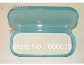 Wholesale-Bright Coloured Hard Plastic Eyeglasses Spectacle Case, Colorful PP Eyewear Box, 20pcs/lot