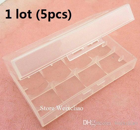 18650 16340 cr123 14500 17670 بطارية ليثيوم مربع صندوق تخزين مقاوم للرطوبة 1 وحدة (محفظة 5pcs) شحن مجاني