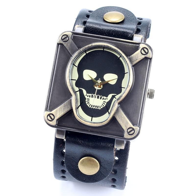 череп наручные часы для мужчин женщин дамы фарфора воздушной почтой