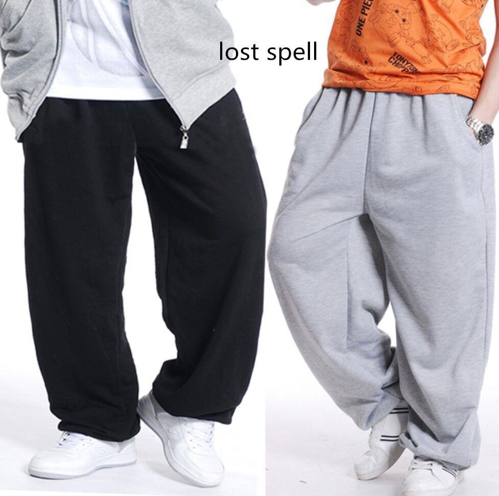 Vente en gros- 2017 Hommes Pantalons de survêtement Hip Hop Lâche Jogger Danse Sportwear Pantalon Baggy Sarouel Hommes Parkour Pantalon Homme