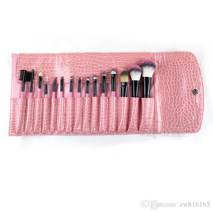 15PCS Professional Cosmetic Brush Make Up Makeup Brushes Brush Sets Black Pouch Bag Lady Makeup Tools