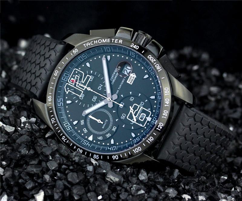 Wholesale-New Sport男性を見るファッションメンズクォーツクロノグラフ腕時計536