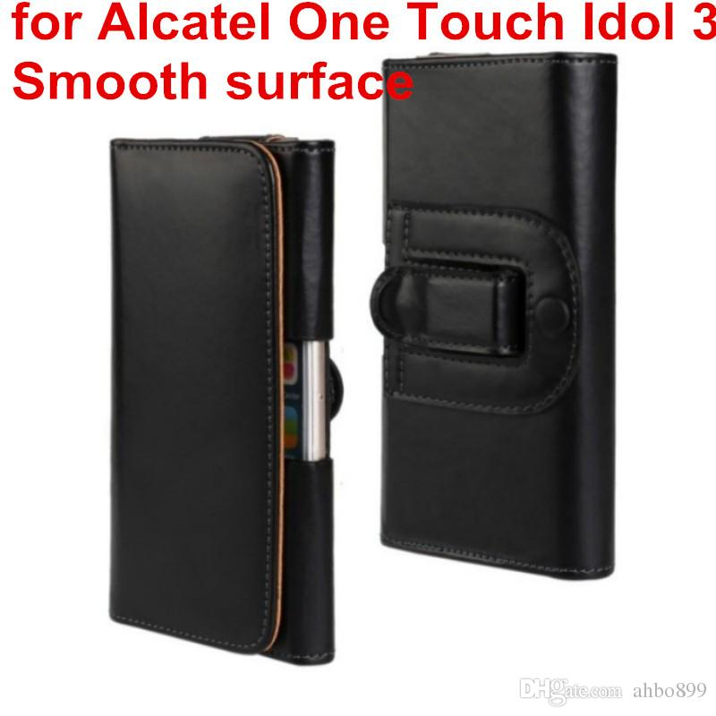 Newest Waist Case Holster PU Leather Belt Clip Pouch Cover Case For Alcatel One Touch Idol 3 5.5 6045 6045Y 6045K Phone Bag