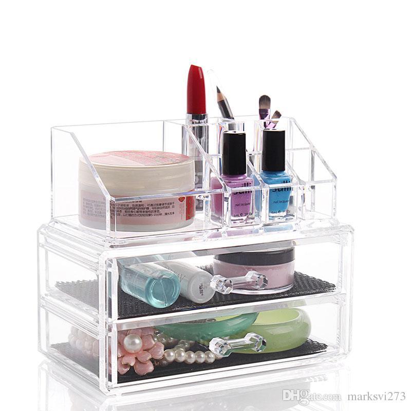 Cassetto acrilico trasparente per cosmetici in acrilico