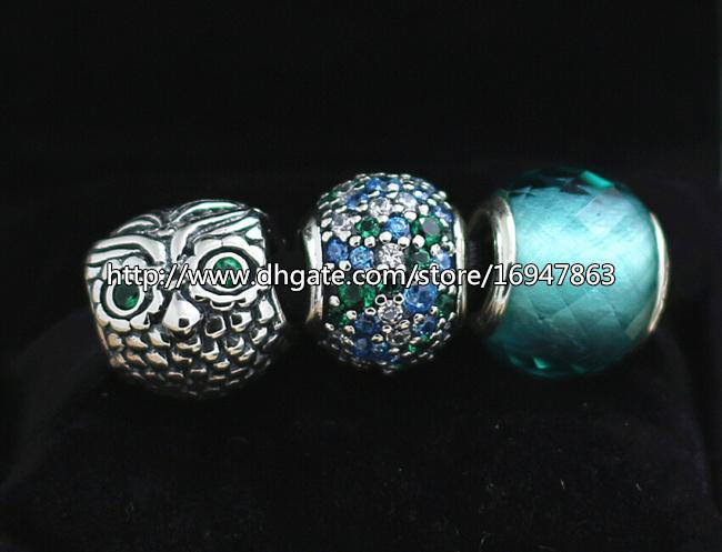 DIY ювелирные наборы стерлингового серебра 925 ядро шарм и муранского стекла шарик набор подходит Европейский Pandora ювелирные изделия Шарм браслеты ожерелья-HJ010