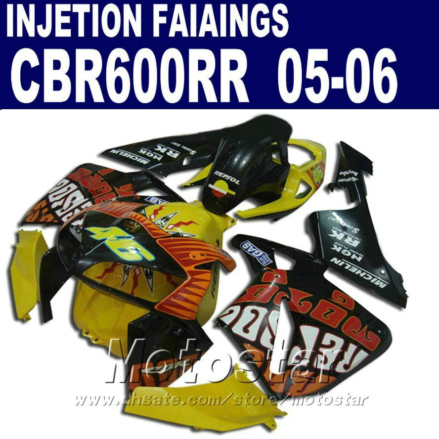 Enjeksiyon kaporta kitleri veya HONDA CBR 600 RR 2005 2006 cbr600rr 05 06 cbr 600rr motosiklet kaporta kiti C7BS