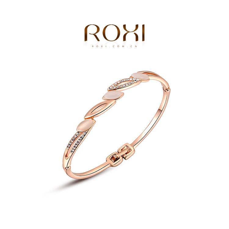 015 ROXI Fashion Jewelry Platinum Plated Statement Elegant Opals Bracelets For Women Party Wedding Free Shipping Christmas Gift