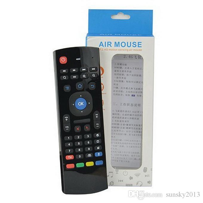 X8 Wireless Remote Controller with Mic Voice 3D Fly Air Mouse & Mini Keyboard MX3 Gamepad for MXQ M8 Android TV Box K0240M