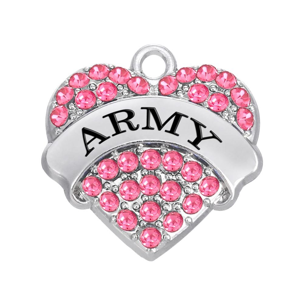 무료 배송 새로운 패션 DIY 3pcs 많은 군사 시리즈 군대에 쉽게 DIY를 매력 4 색 크리스탈 보석 목걸이 또는 중괄호에 맞게 만들기