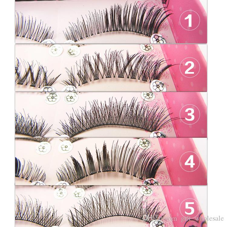 2016 Japanese New Style Mixed 5 Pairs Thick Long False Eyelash Brand Fashion Lash Blink Black Full Strip Fake Lashes Makeup