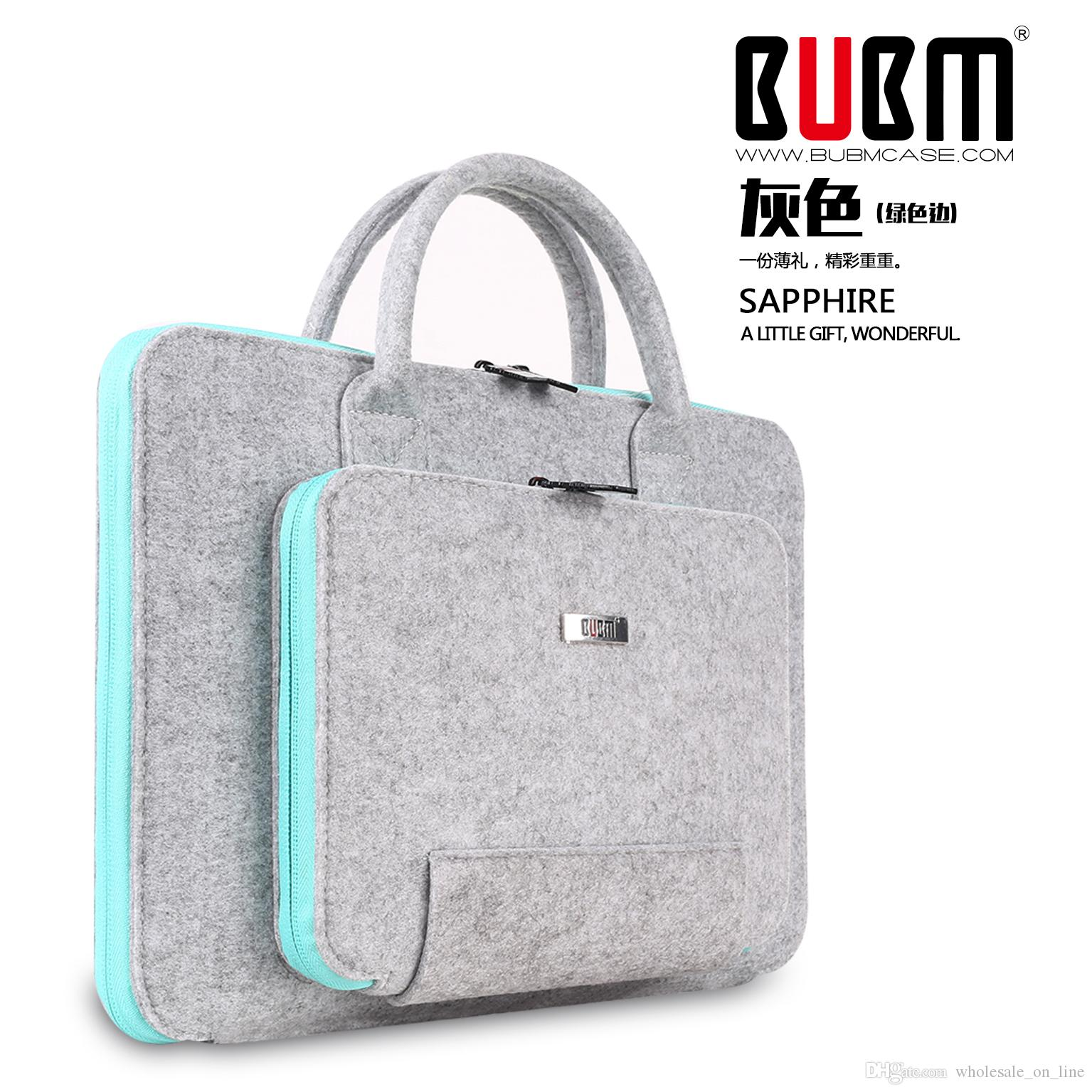 fbca3b7c3939 BUBM fashion men women Laptop Bags   Cases message meeting work leather bags  for macbook air retina pro 11 13 15 free shipping