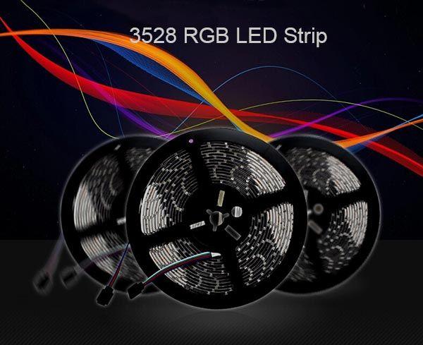 LED شرائط ضوء SMD 3528 ماء 300leds 5 متر rgb مرنة الصمام الشريط ضوء مع وحدة تحكم عن بعد و 5 أ 12 فولت امدادات الطاقة 5 متر / مجموعة 2 قطع
