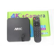 M8C TV Box + 500W camera Android Smart TV Box