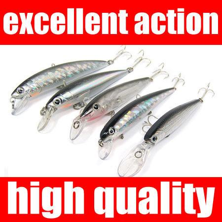 5pcs Fishing Lures Lots Minnow Popper Lure Crankba...
