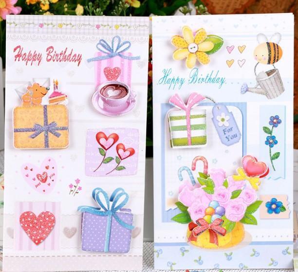 Cake 3d Stereo Folding Handmade Birthday Card Greeting Card – Creative Birthday Card Messages