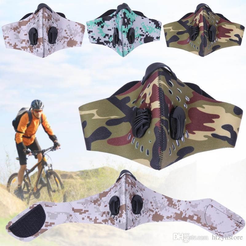 Al por mayor anti-contaminación PM 2.5 Máscara de bicicletas MTB Protector Facial deporte al aire libre magia fije máscara facial a prueba de viento Ciclismo Equitación Esquí Gear