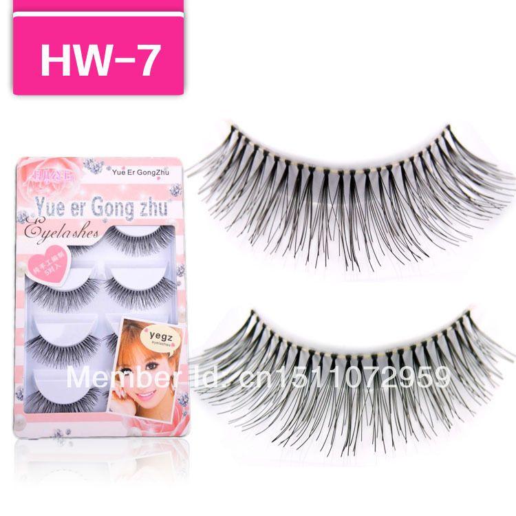 Handmade 5 Para Naturalne Długie Fałszywe Rzęsy Fake Eye Lashes Eyelash HW7