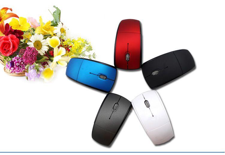DHL 100pcs USB Wireless 2.4GHz Cordless Arc Folding Foldable Mouse For Laptop Desktop Tablet pc
