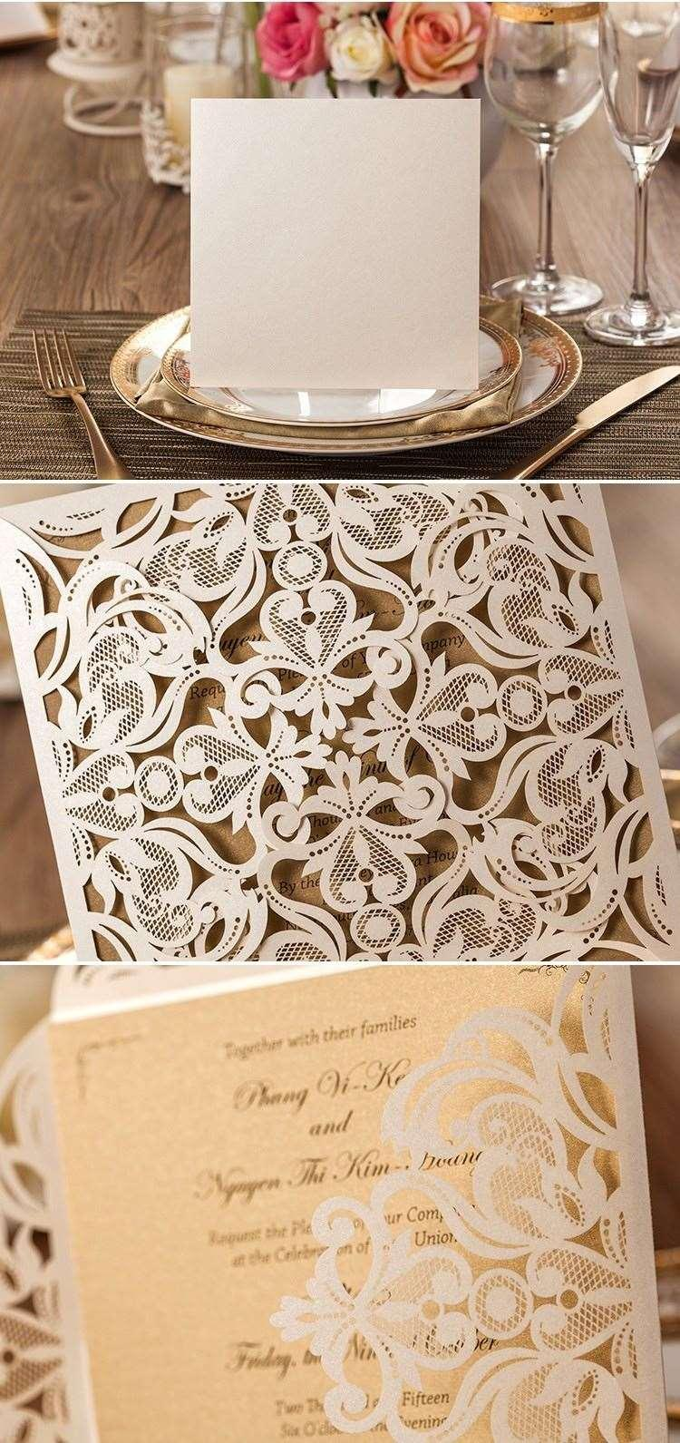 cheap laser cut  open wedding cards white hollow wedding, invitation samples