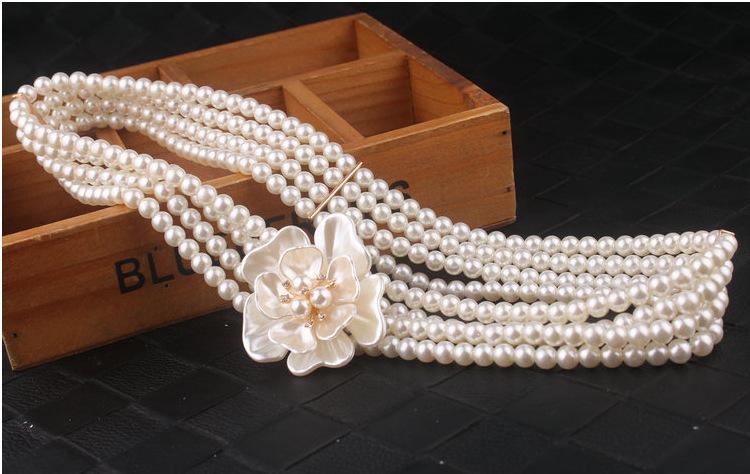 Bruiloft sjerp riem bruids accessoires parels elastische sjerpen charmante avondjurk sjerp riemen bruids bruidsjurken levert WWL