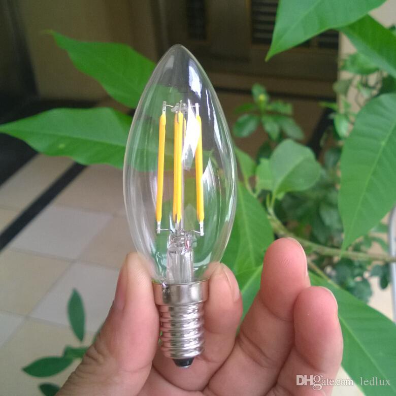 Yeni Stil Edison Filament Dim Led Mum Lamba 2 W 4 W E14 Led Ampuller Işık Yüksek Parlak Sıcak Beyaz 2700 K Led Lamba AC 200-240 V