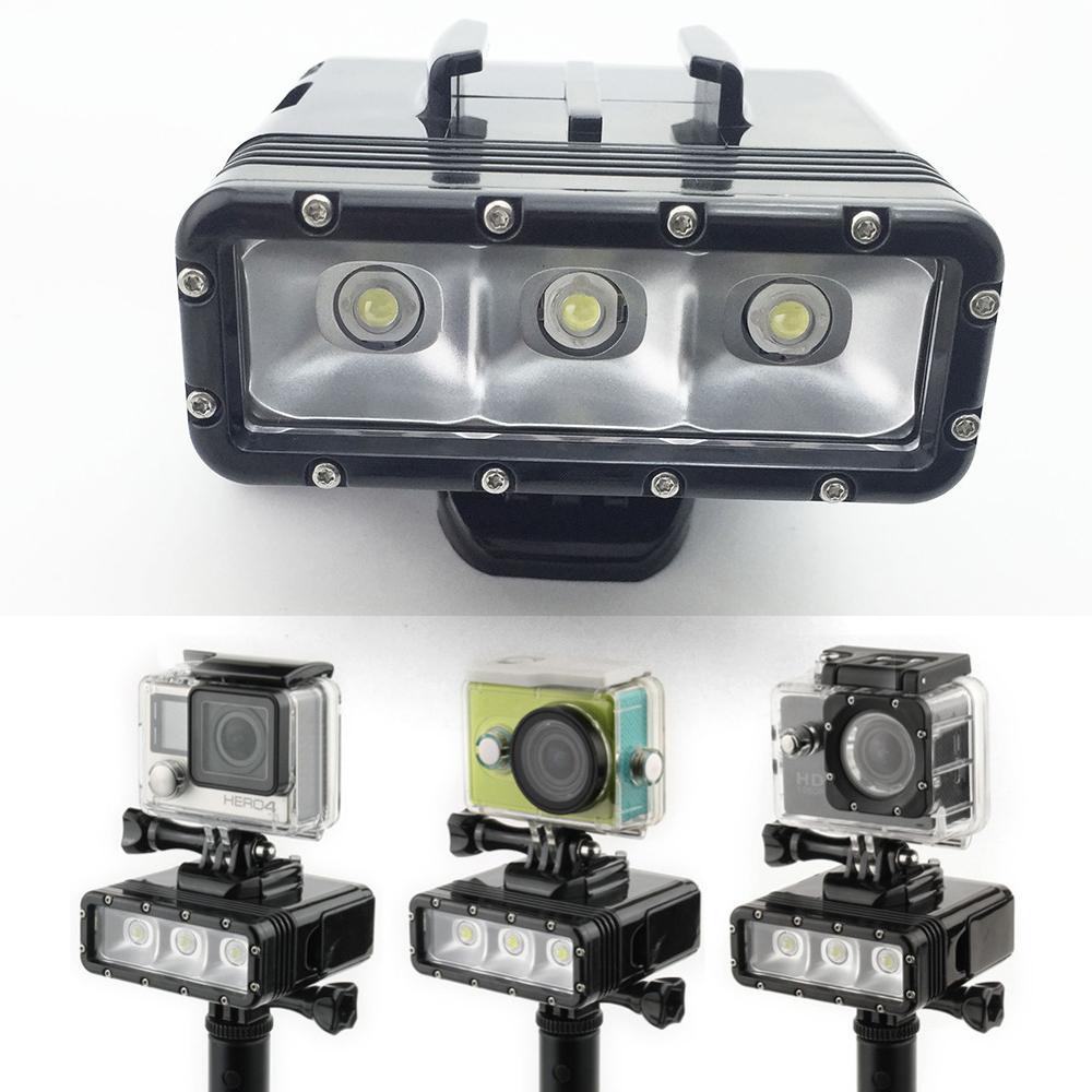 GoPro Diving flash Light Spot lamp Underwater Waterproof LED Flash Video Light For GoPro Hero 54Session SJCAM Xiaomi Yi 2 4K (2)
