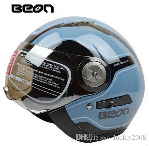 أصيلة beon الأزياء الأمن عدسة مزدوجة خمر الرجعية نمط نصف الوجه دراجة نارية خوذة abs إبقاء دافئ دراجة نارية خوذة b216 حجم m l xl