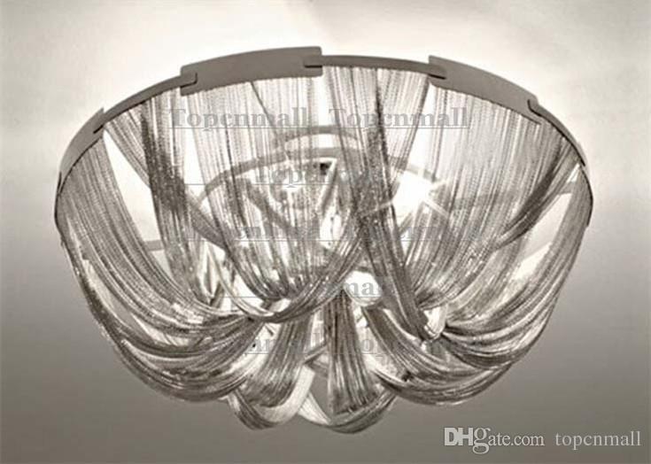 Terzani Atlantis Deckenleuchte Italien Kette Quasten Helle Modern Silber Mit Alu Lampe Esszimmer Leuchten Wohnzimmer