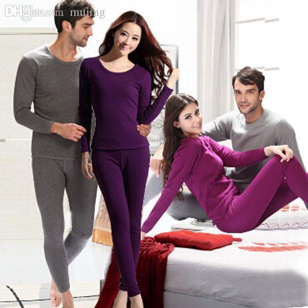 Alta Qualidade XXXL Adicionar Lã Inverno Homens Mulheres Termal Underwear Thermo Sono Top Thermal Pijama Conjuntos Underwear Têxtil Têxtil
