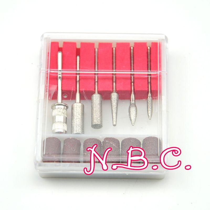Wholesale-1Set 전문 전기 손톱 키트 손톱 팁 매니큐어 기계 전기 손톱 드릴 아트 펜 페디큐어 비트 네일 아트 도구 키트