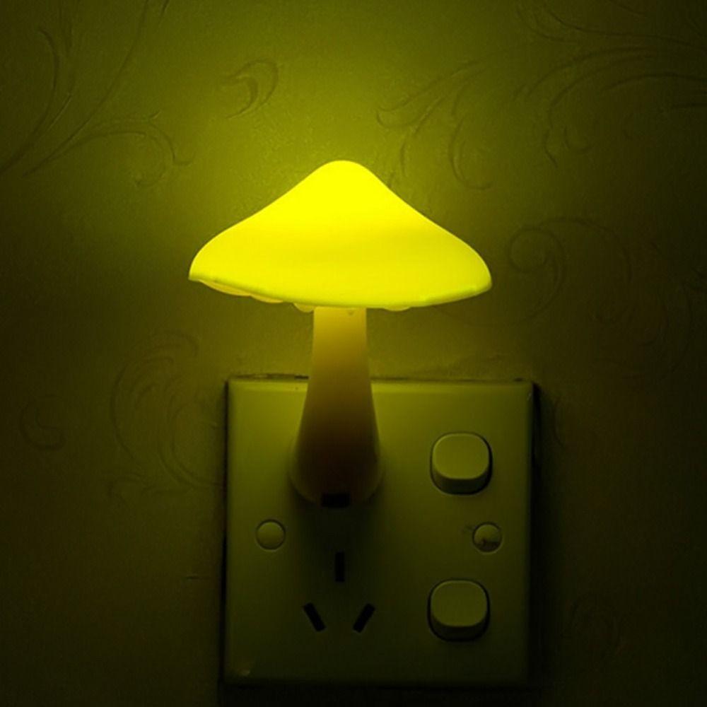 Best Eu Us Plug Mushroom Wall Socket Lights Light Controlled Sensor ...