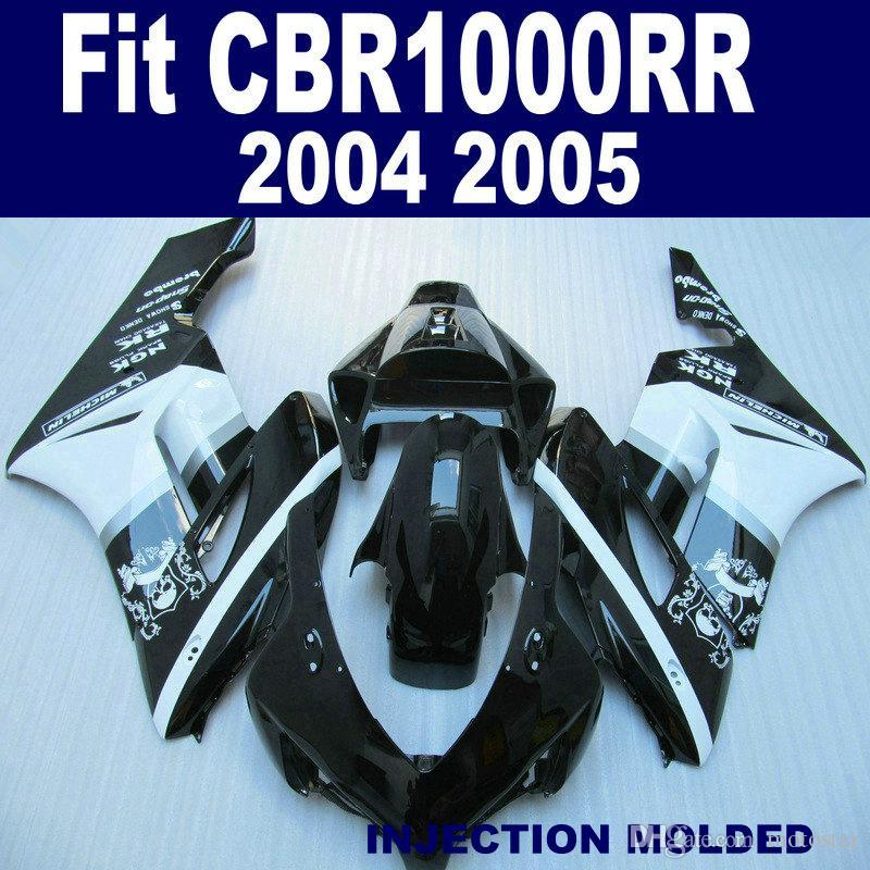 Injection mold Motorcycle fairing kit for HONDA 2004 2005 CBR 1000RR white black aftermarket CBR1000RR 04 05 fairings set KA97