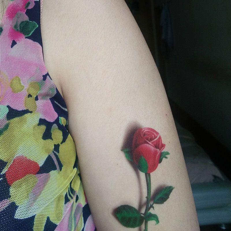 Atacado-tatuagem 3d rosa tatuagem 2015 flor borboleta falsa fantasia temporária tatuagens impermeáveis adesivos mulheres tatoo
