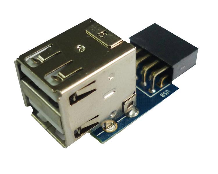 9Pin до 2 порта USB женский конвертер печатной платы карты ПК чехол внутренняя материнская плата USB 2.0 концентратор