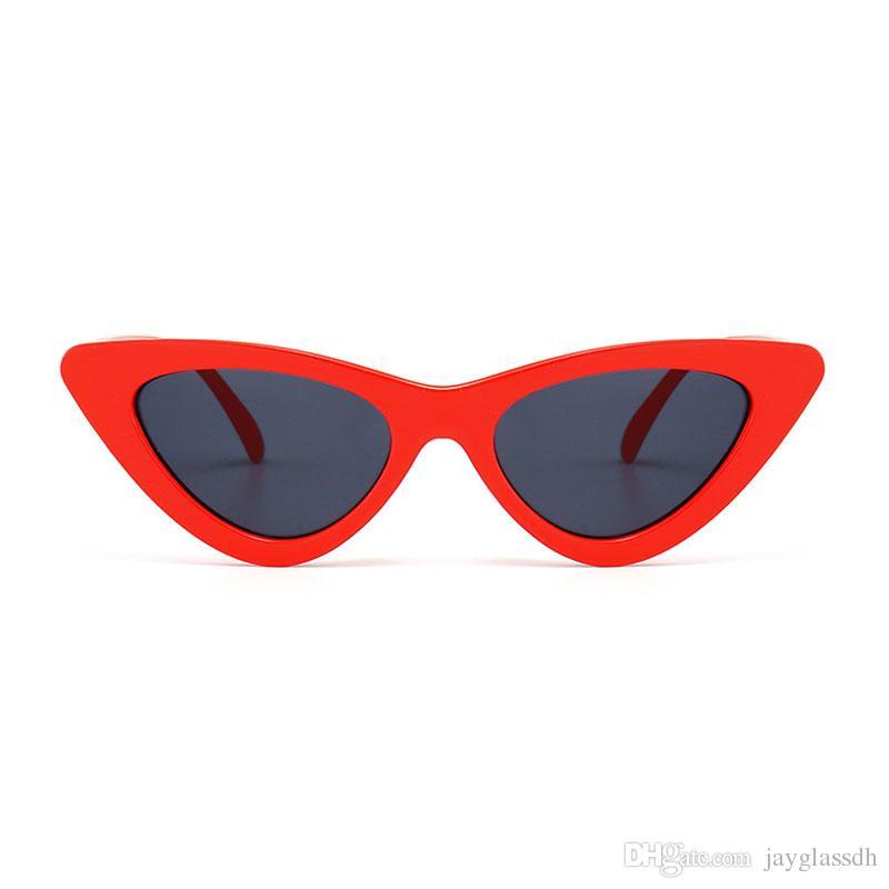 موضة النظارات الشمسية القط العين المرأة ريترو 2020 العلامة التجارية مصمم النظارات الشمسية القط العين المرأة خمر التدرج أنثى نظارات شمسية