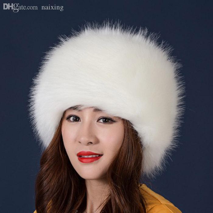 Groothandel-mode faux vossenbont winter warme dame vrouwen zachte ski-hoed cossack cap