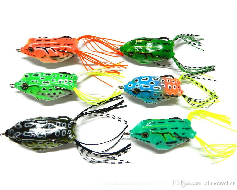Bionic Plastic Hollow frog Lure 5.5cm 12.5g 3D eyes Floating topwater saltwater fishing for big bass false bait