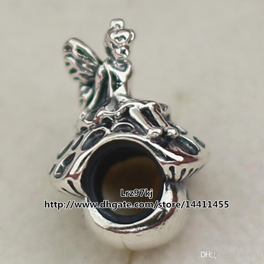 2015 Autumn New 925 Sterling Silver Forest Fairy Charm Bead Fits European Pandora Jewelry Bracelets & Necklace