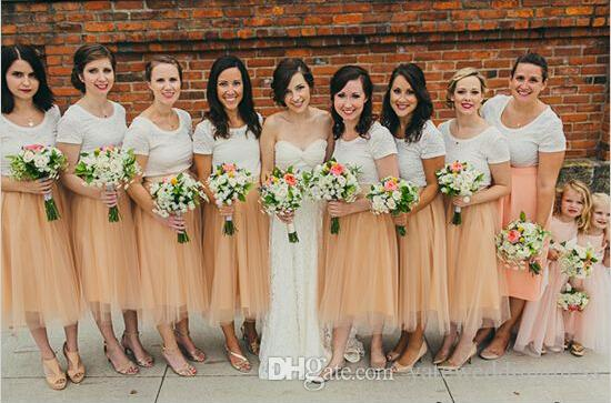 جديد sasion تول التنانير الشاي طول mutilayers رخيصة وصيفة الشرف الملونة مخصص للبيع جودة عالية ثوب العروسة