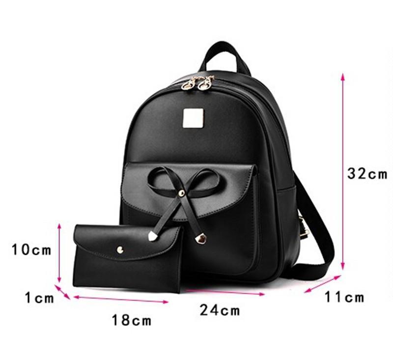 C /& S Fashionable Backpack Female Leisure Shopping PU Single Shoulder Bag Student Schoolbag