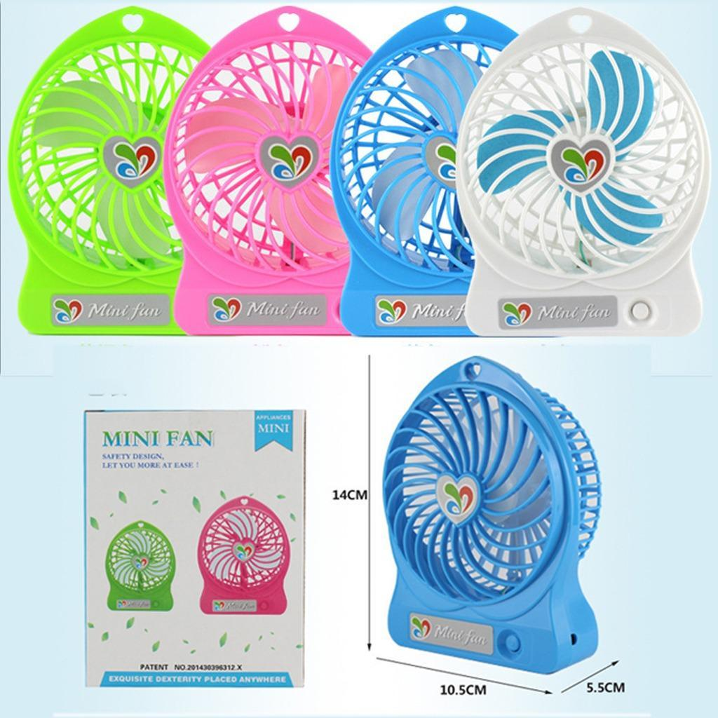 Mini USB Fan Portable Rechargeable Fans Air Cleaning Cooling Battery Operated For Indoor Outdoor Kids Table 18650 Battery