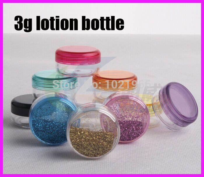 3g ps Contenitore di plastica per bottiglie in vasetto di plastica 3g PS Trasparente contenitore di lozione per vasetti di crema vuoto campione di plastica bottiglia di alta qualità