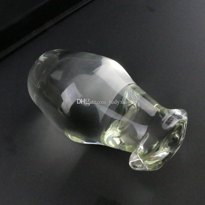 Súper Tamaño Adulto Sexy Cristal de Cristal G Punto Dongs Estimular membranamente los utensilios femeninos masturbación Dildos Pene Plug Anal Butt Toy