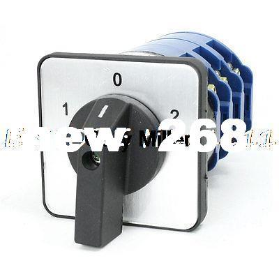 Ui 660V Ith 125A 12 Terminals Rotary Cam Universal Combination Switch