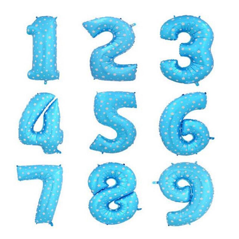 Оптовая продажа-Бесплатная доставка 1 шт. 40 дюймов 0-9 алюминиевый сине-розовый день рождения воздушные шары украшения партии цифры Оптовая игрушка воздушный шар