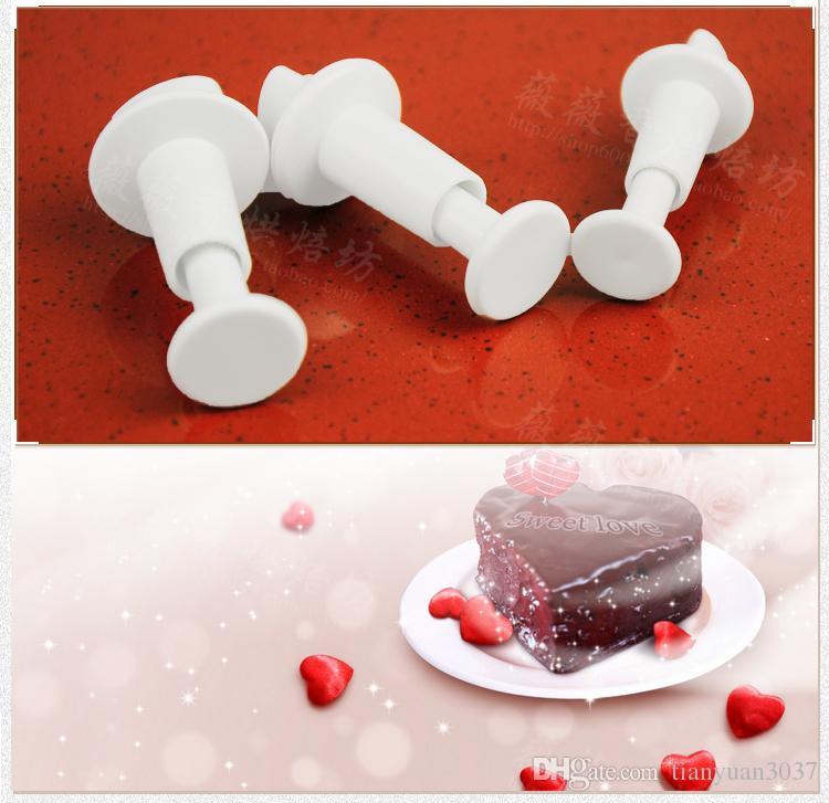 Frete grátis 3 Pçs / set Coração Mold Bolo Fondant Cortador de Decoração Pasta Ferramentas Cookie Sugarcraft TY1684