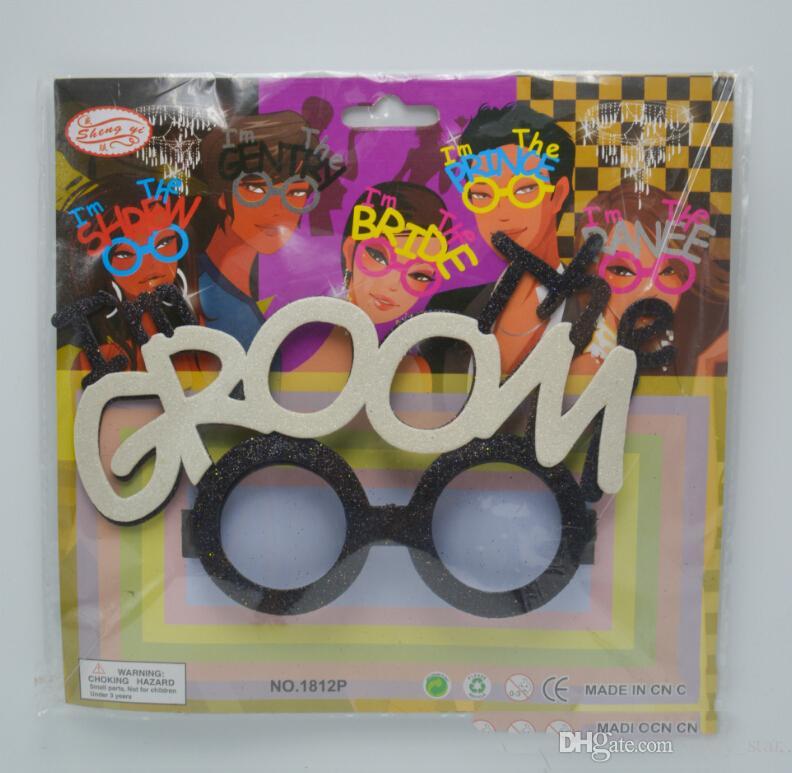 Cool Weeding Party Novio Novia Gafas Prop Adulto Despedida de soltero Gracioso Glasses Tool Event Party Supplies