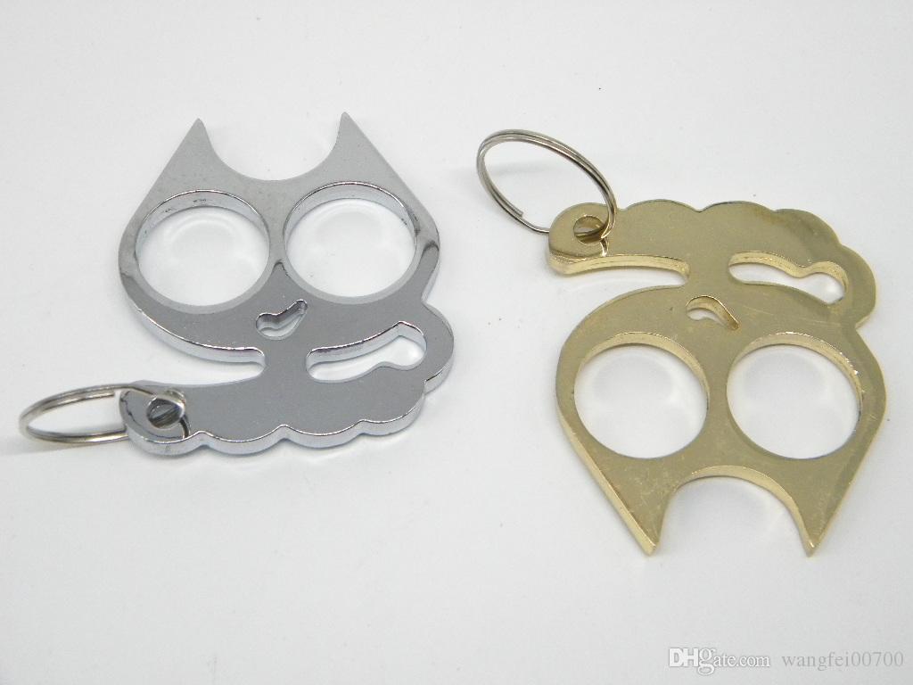 2020 Cartoon Cat Keychain Self Defense Emergency Survival Tool
